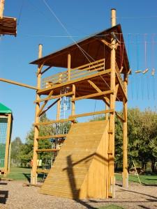 Lanový park Prešov – stavba