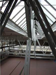 Rekonštukcia strešnej konštrukcie výrobnej haly – práce vo výškach