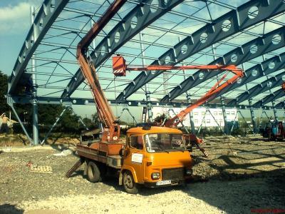 Dokončovací náter oceľovej konštrukcie – Vyšné Nemecké